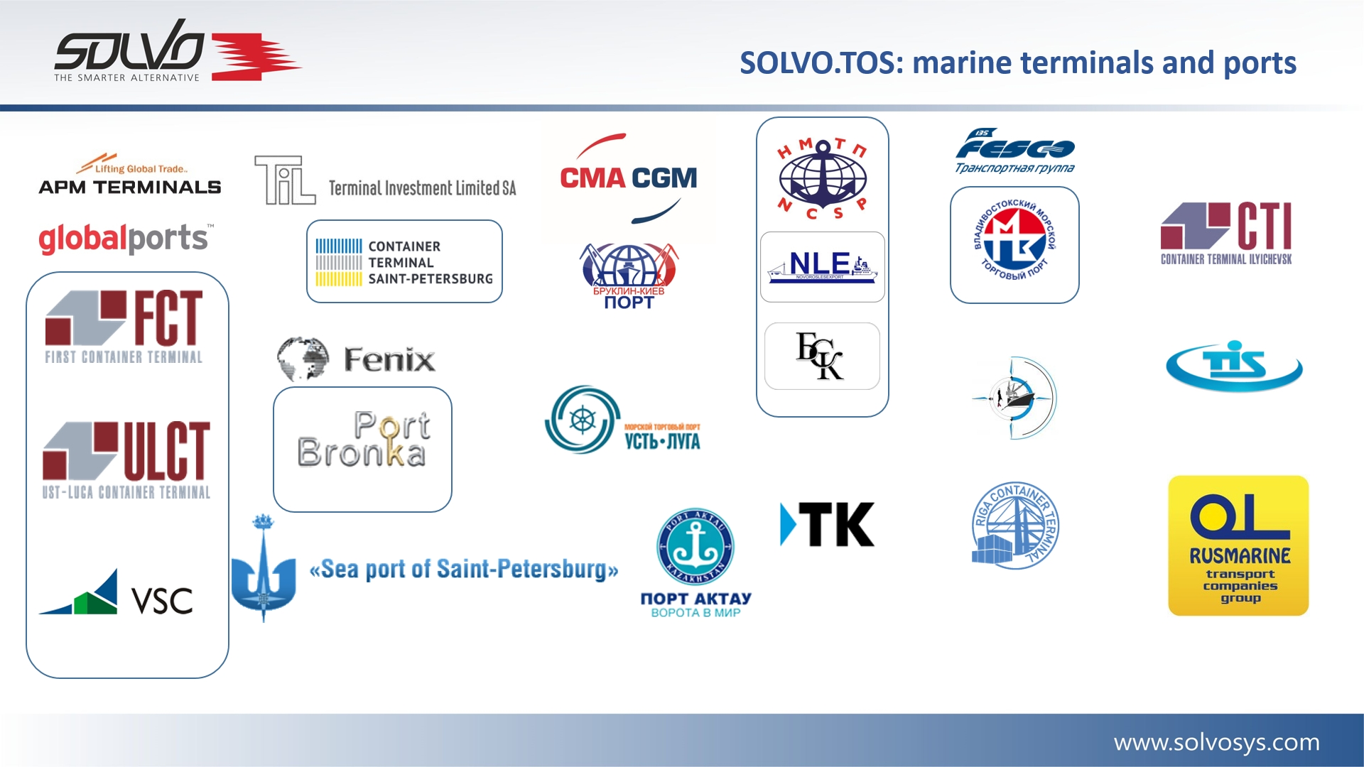 Marine terminals and ports clients