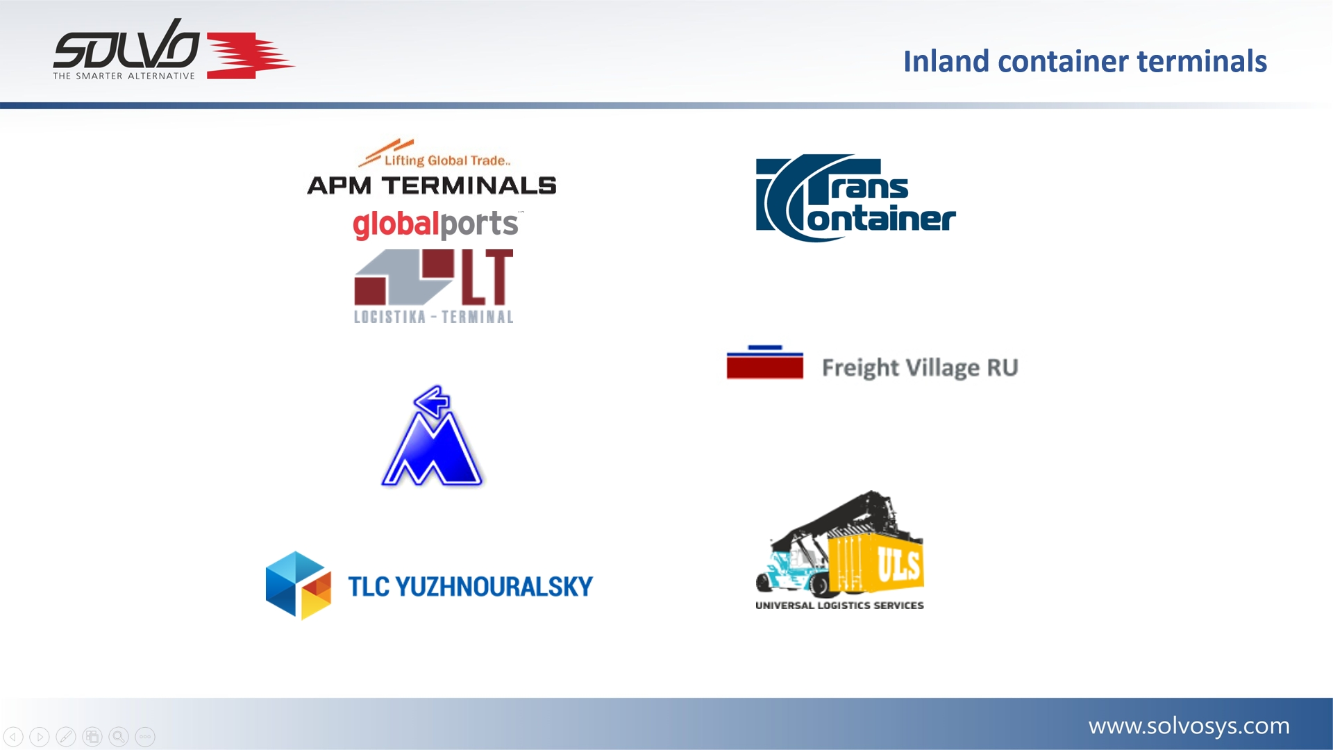 inland terminals and ports